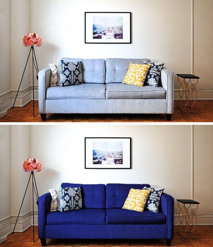 Thay vỏ bọc sofa thay vì sắm mới hoàn toàn