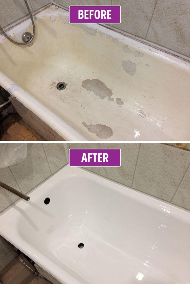 Sửa chữa bề mặt bồn tắm cũ, hư hỏng
