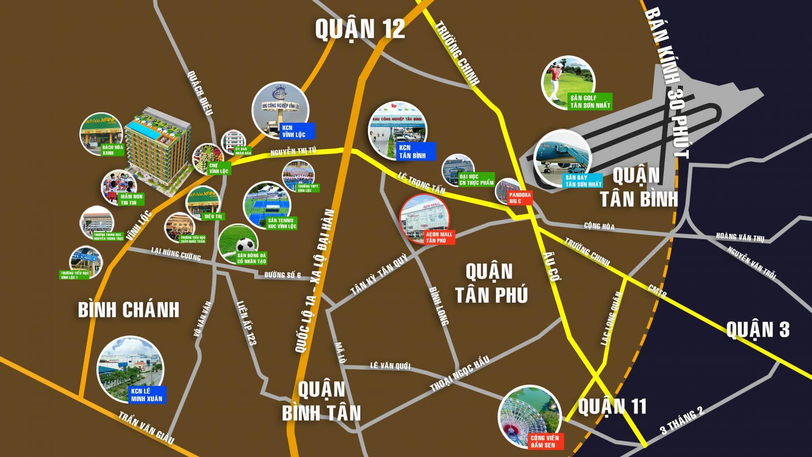 Vị trí dự án CavaHome Vĩnh Lộc trên bản đồ