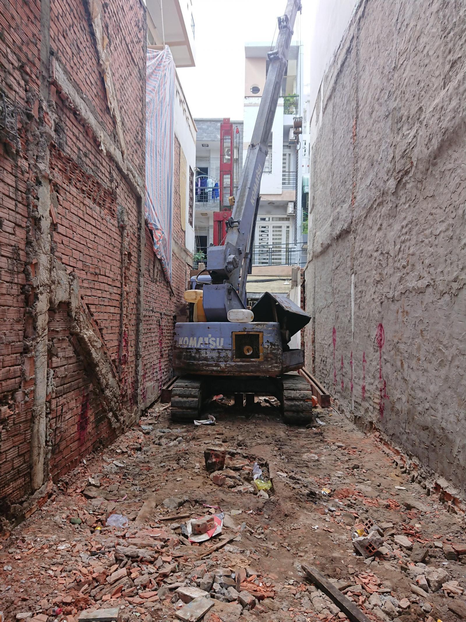 Máy ép cọc bê tông nhà phố