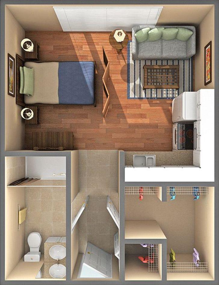 Bài trí nội thất căn hộ nhỏ
