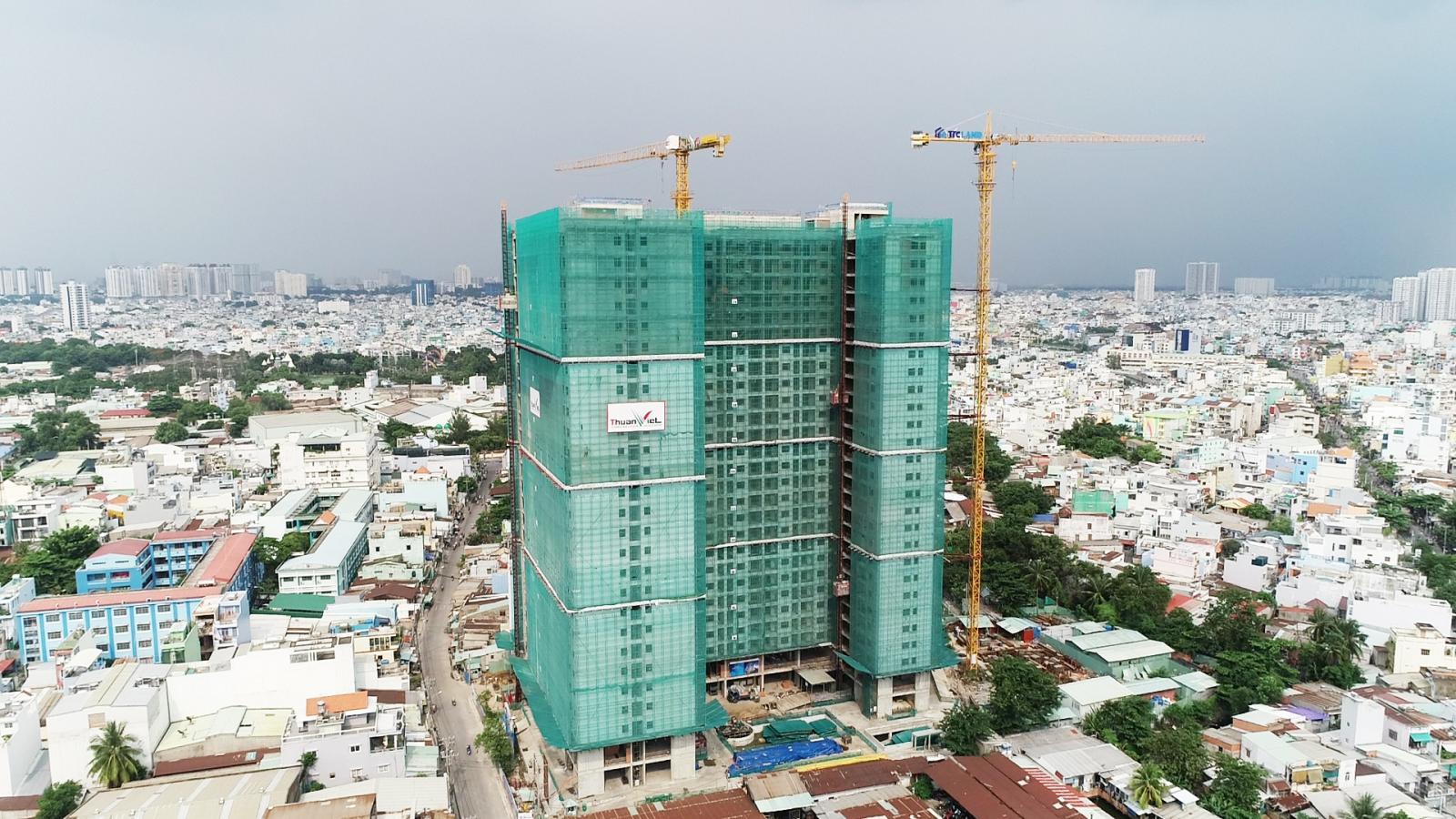 Hình ảnh một dự án căn hộ triển khai tại TP.HCM