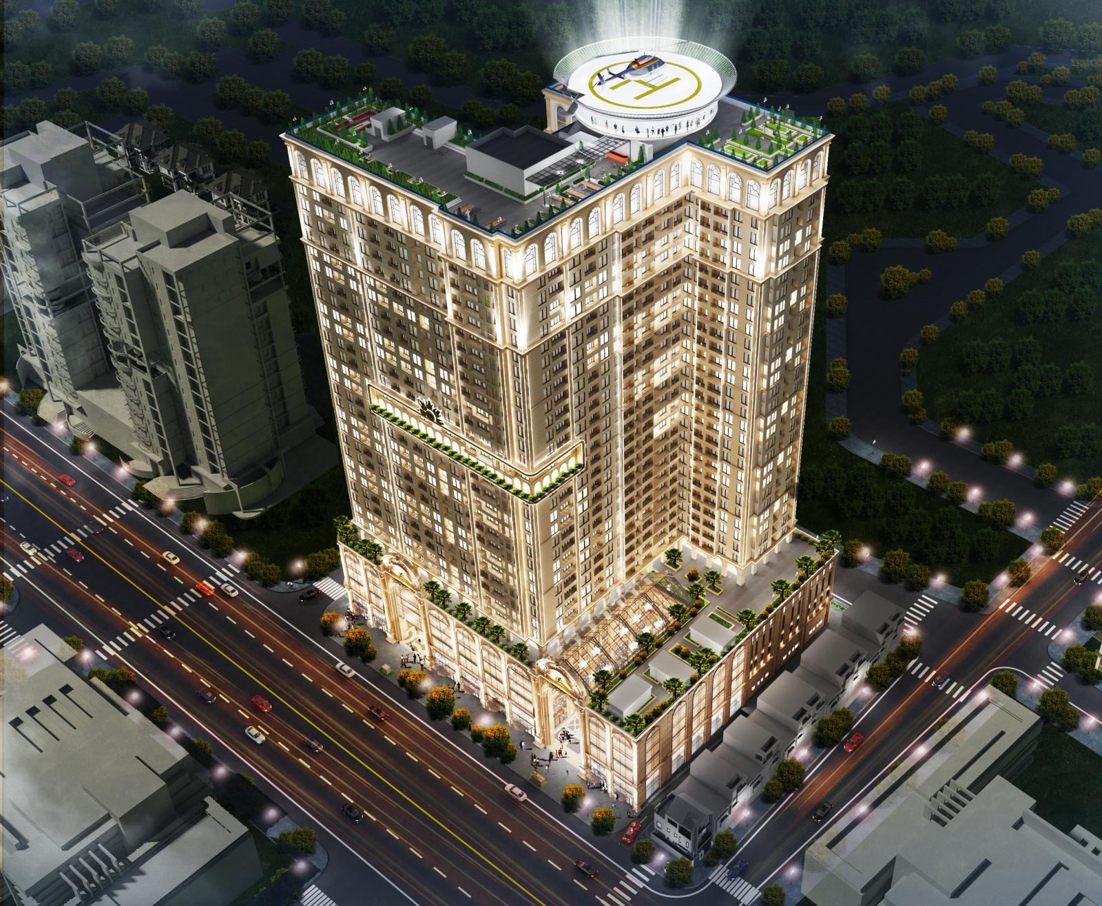 Phối cảnh tổng thể dự án IGG Tower Hạ Long