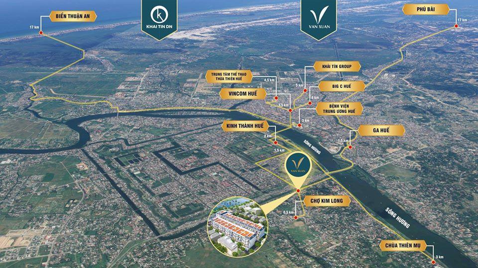 Vị trí dự án Khu dân cư Vạn Xuân trên bản đồ