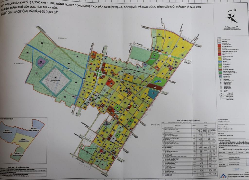 bản đồ quy hoạch khu nông nghiệp công nghệ cao tại Thanh Hóa