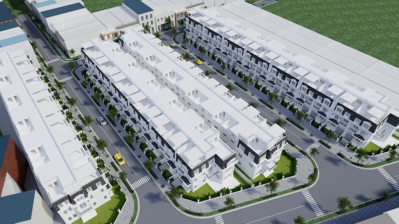 Phối cảnh tổng thể dự án Yên Bình Homes