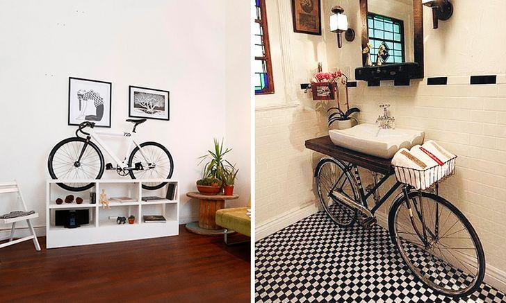 Trang trí nhà bằng xe đạp cũ