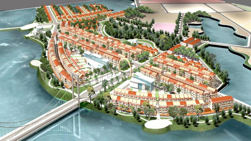 Phối cảnh tổng thể dự án Khu đô thị Bắc Đầm Vạc