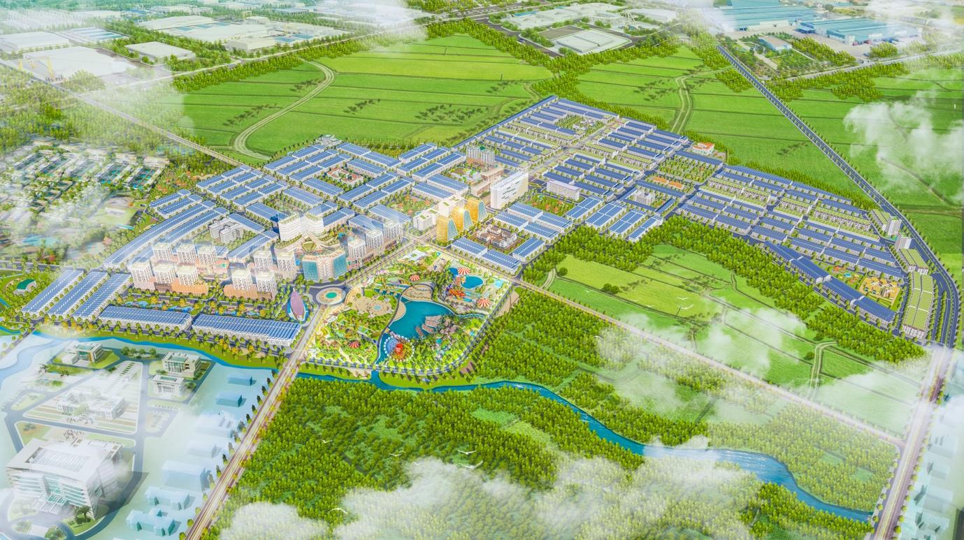 Phối cảnh tổng thể dự án Khu đô thị sinh thái An Phú Long Garden