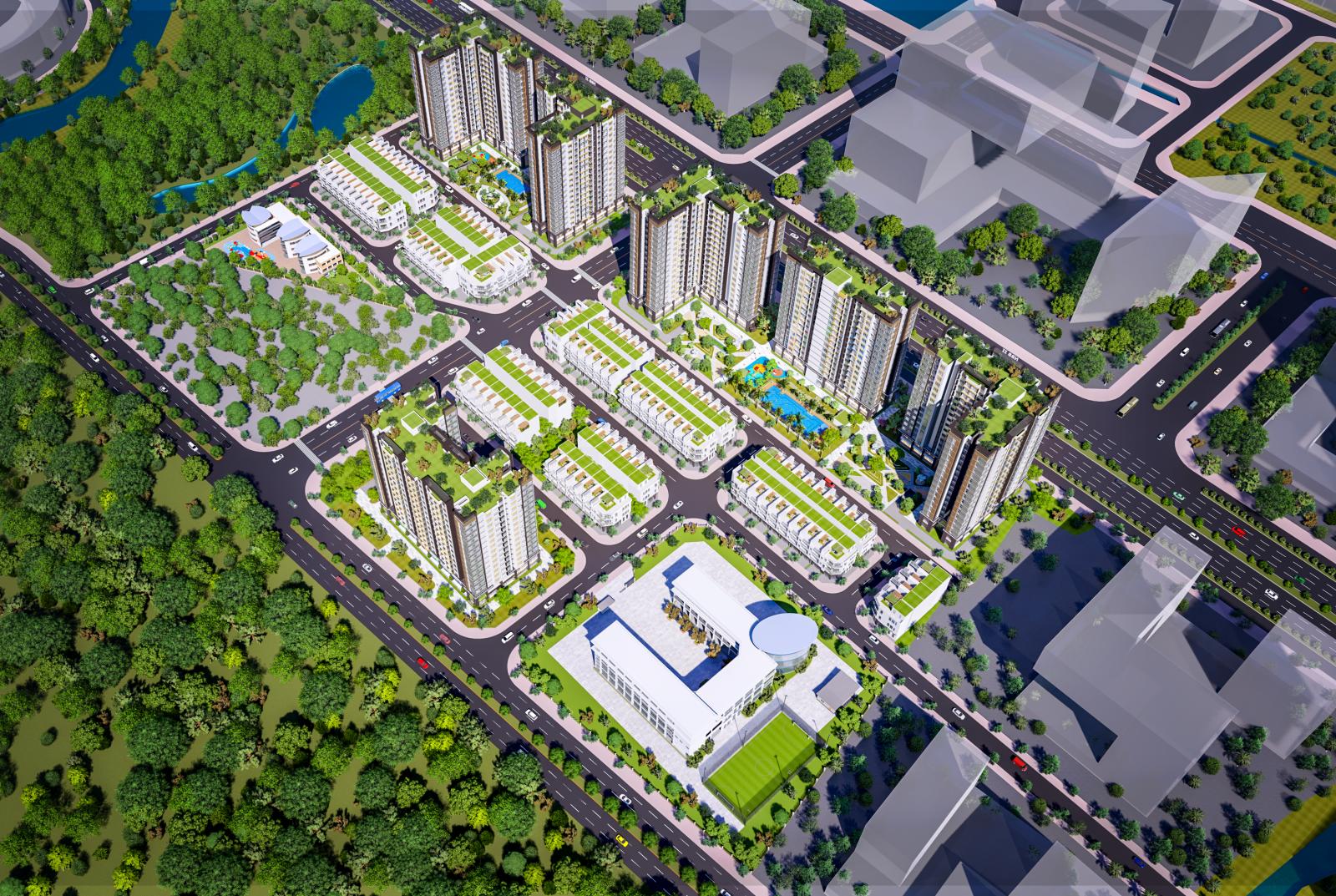 Phối cảnh tổng thể dự án City Gate 5