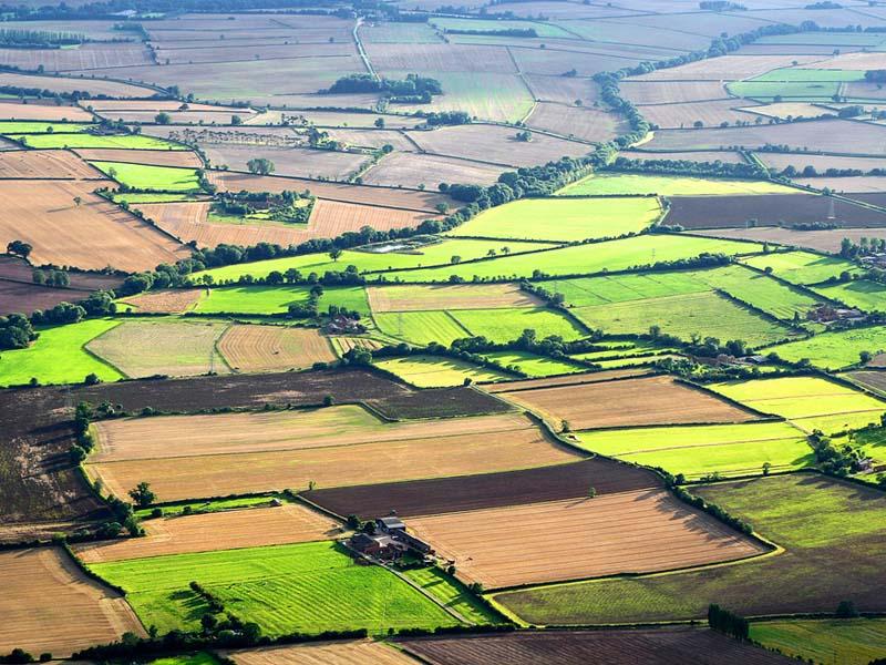 một khu đất nhìn từ trên cao