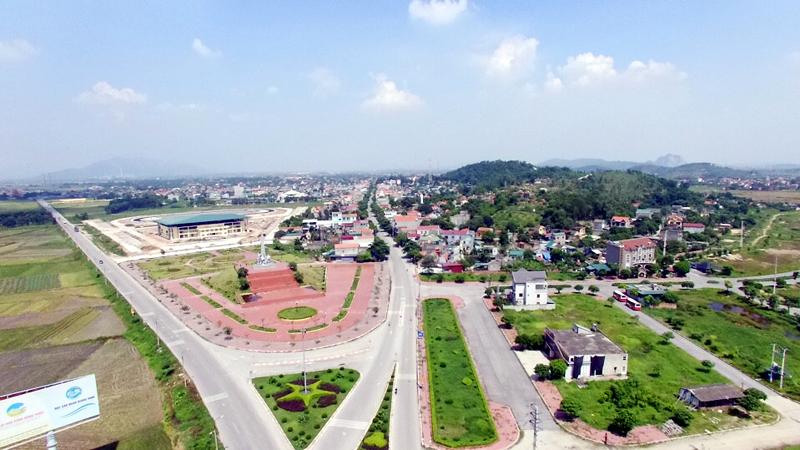 một góc tỉnh Quảng Ninh nhìn từ trên cao