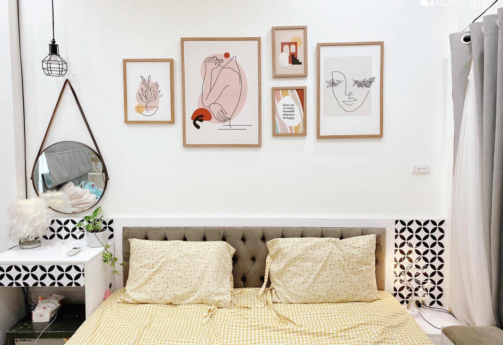 Căn phòng ngủ với tông màu trẻ trung, hiện đại