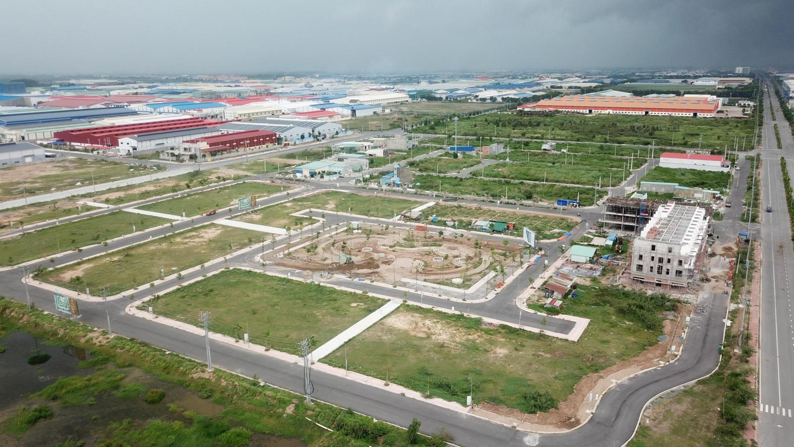 Hình ảnh một dự án đô thị đang triển khai phía Nam