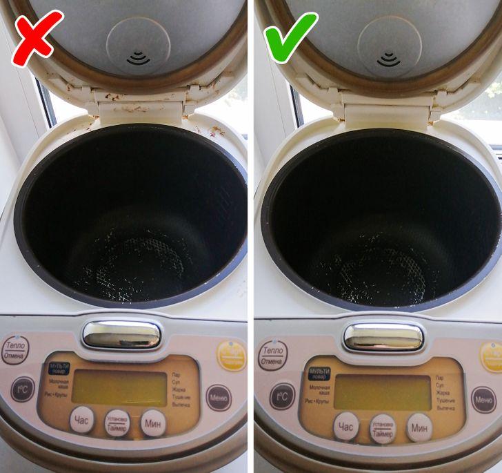 Vỏ nồi cơm điện lâu ngày không vệ sinh sẽ hình thành vết ố khó tẩy