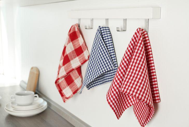 Khăn và các loại đồ vải khác nên được thay mới mỗi tuần một lần.