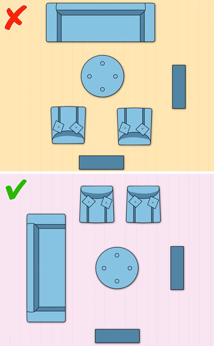 Bố cục hai tiêu điểm trong sắp xếp nội thất