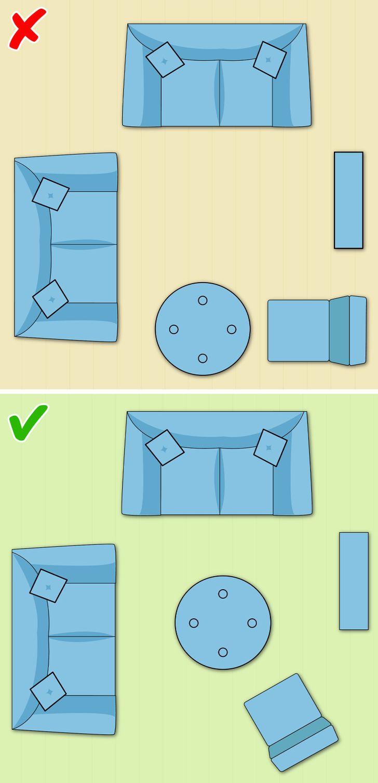 Cách bố trí bàn cà phê trong phòng khách nhỏ