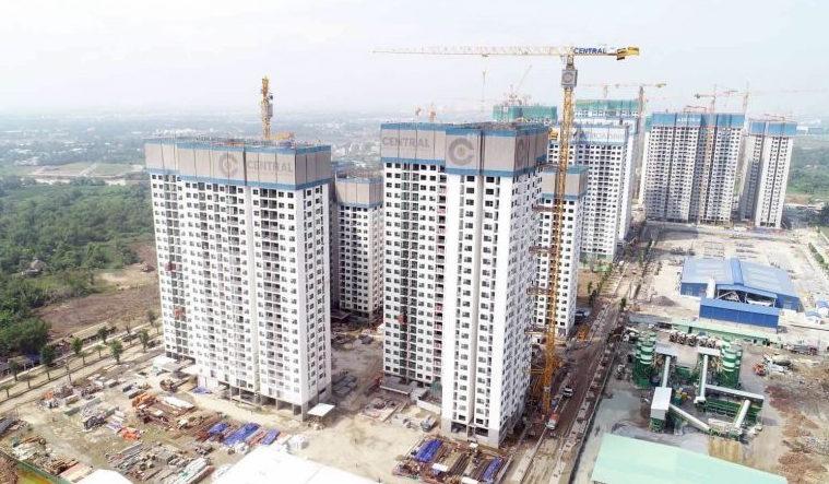 Khu căn hộ đang xây dựng tại TP.HCM