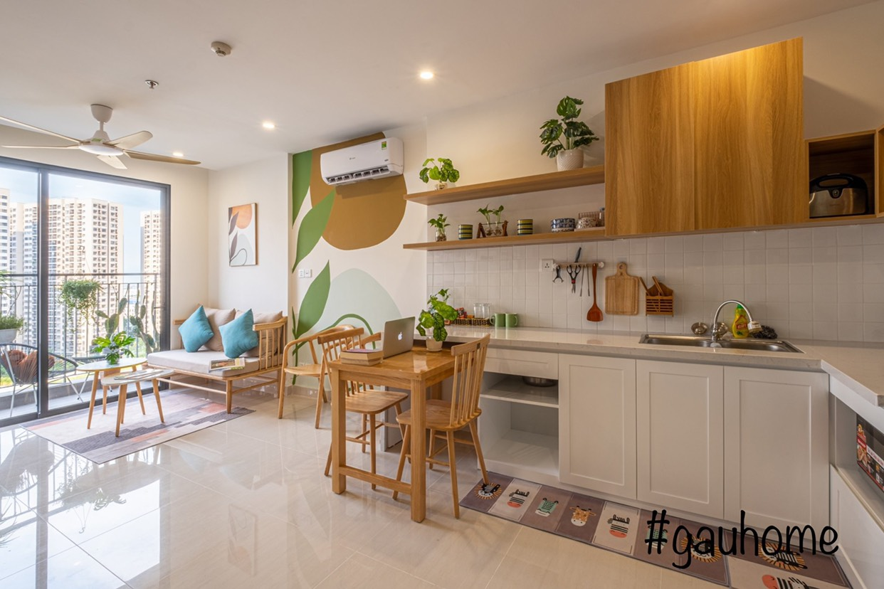 Nội thất phòng bếp căn hộ chung cư