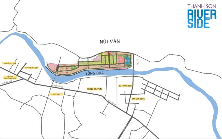 Vị trí dự án Thanh Sơn Riverside