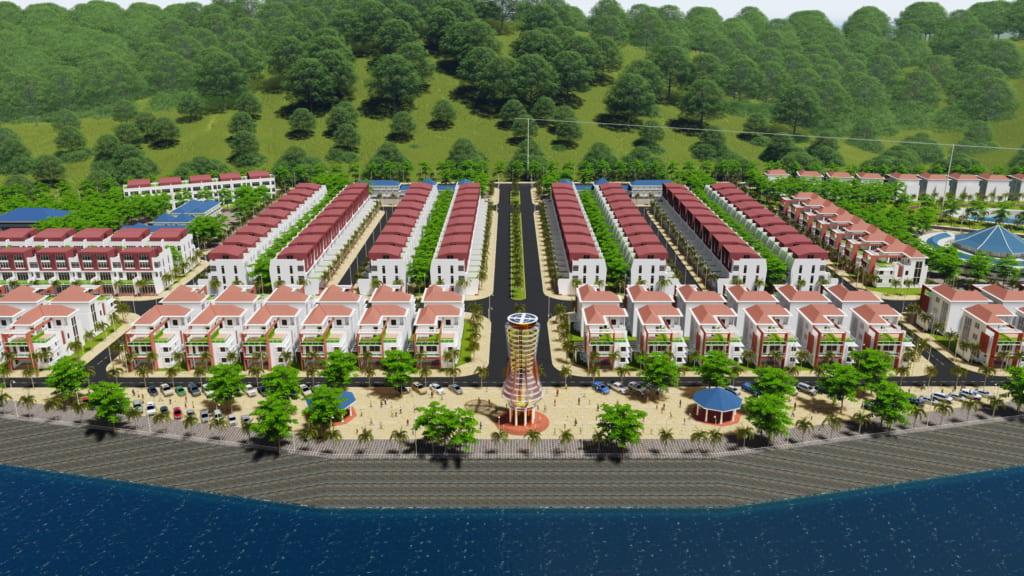 Phối cảnh tổng thể dự án Thanh Sơn Riverside
