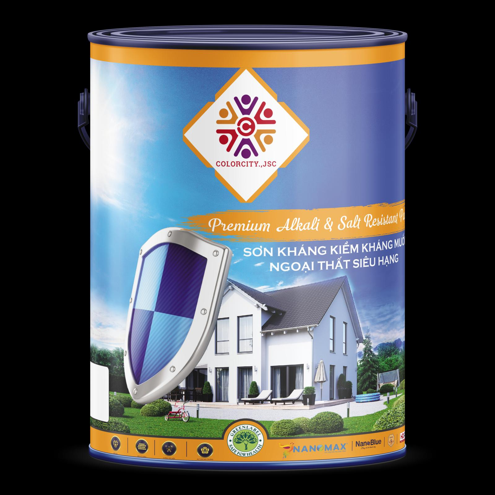 Sơn lót kháng kiềm muối ngoại thất Nanomax Premium Alkali & Salt Resistant