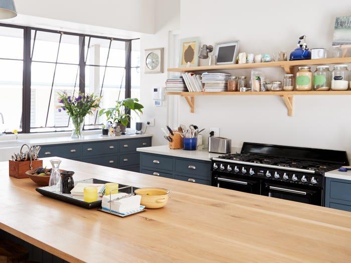Tủ bếp dạng mở