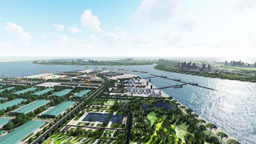 Phối cảnh tổng thể dự án Khu công nghiệp Nam Đình Vũ