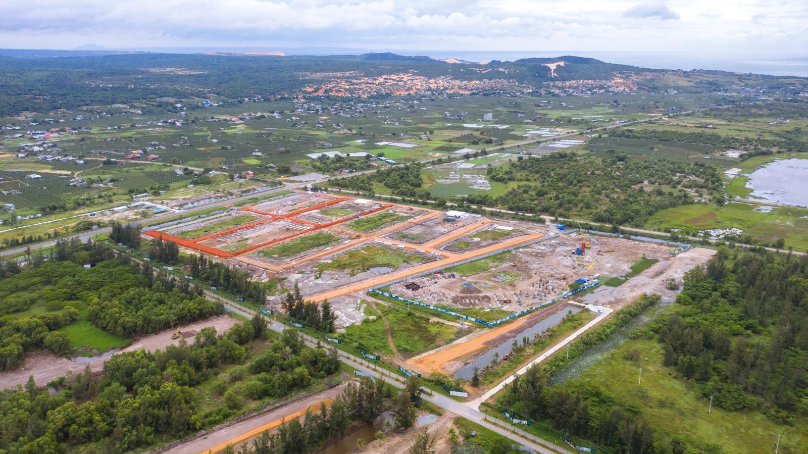 Hình ảnh một dự án đang triển khai trên khu vực phía Nam