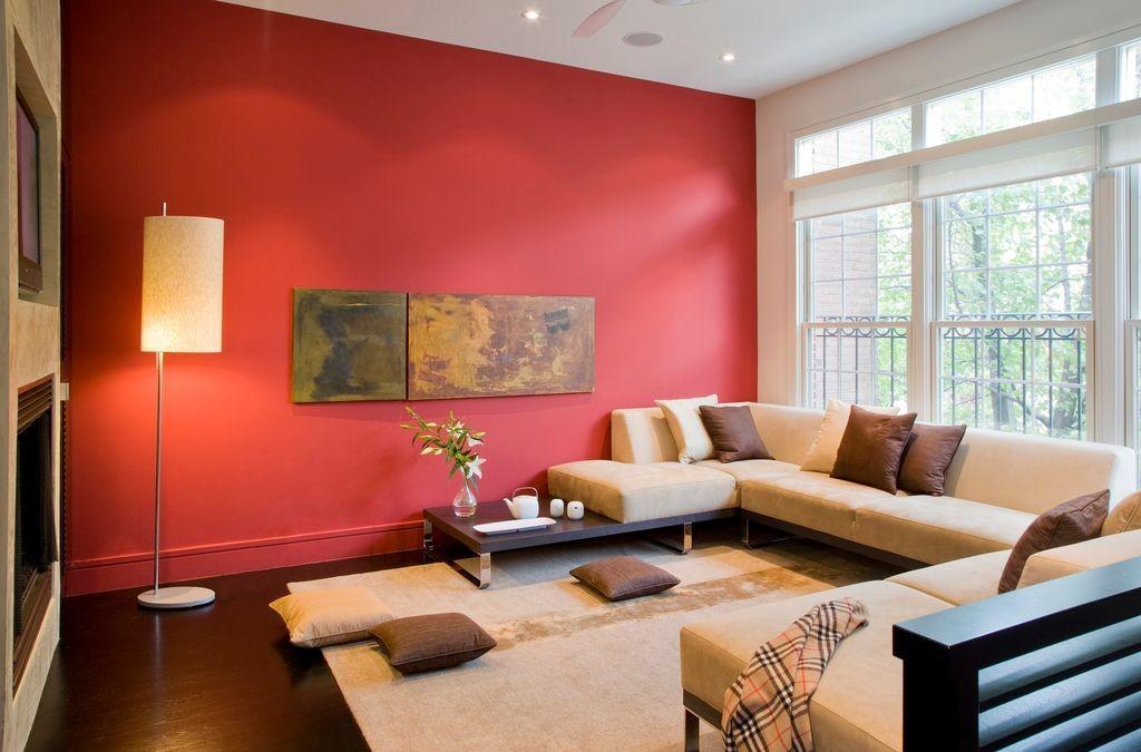 sơn nhà màu đỏ cam cho người mệnh hỏa