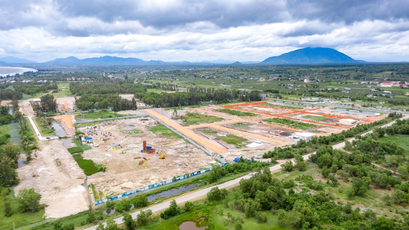 Hình ảnh một khu đô thị đang triển khai tại Phan Thiết
