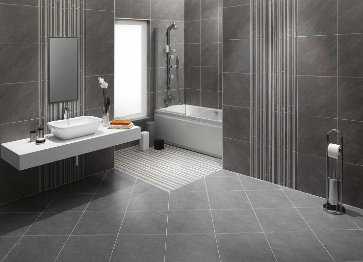 Sàn phòng tắm lát đá tự nhiên
