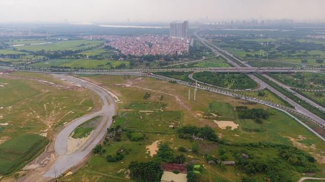 dự án đất nền nhìn từ trên cao