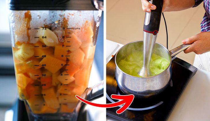 Không nên xay thực phẩm nóng trong máy xay sinh tố