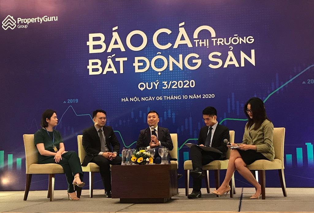 hình ảnh các diễn giả tại báo cáo thị trường của Batdongsan.com.vn quý 3/2020