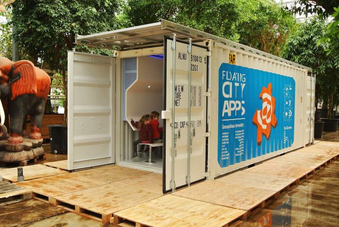 nhà chống lũ mô hình container