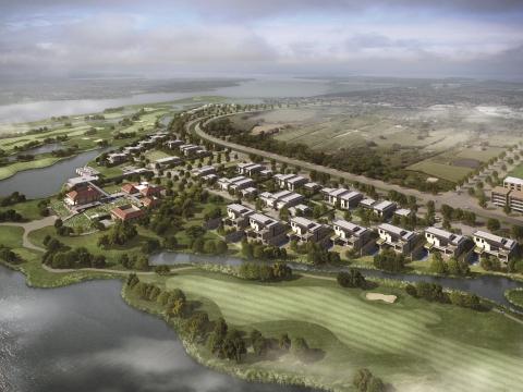 Phối cảnh tổng thể dự án Villa Avenue Vân Trì