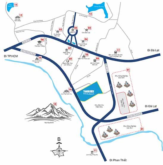 Vị trí dự án Thanh Niên Dalat Hills