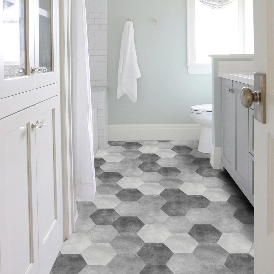 nhà tắm lát gạch hình lục giác