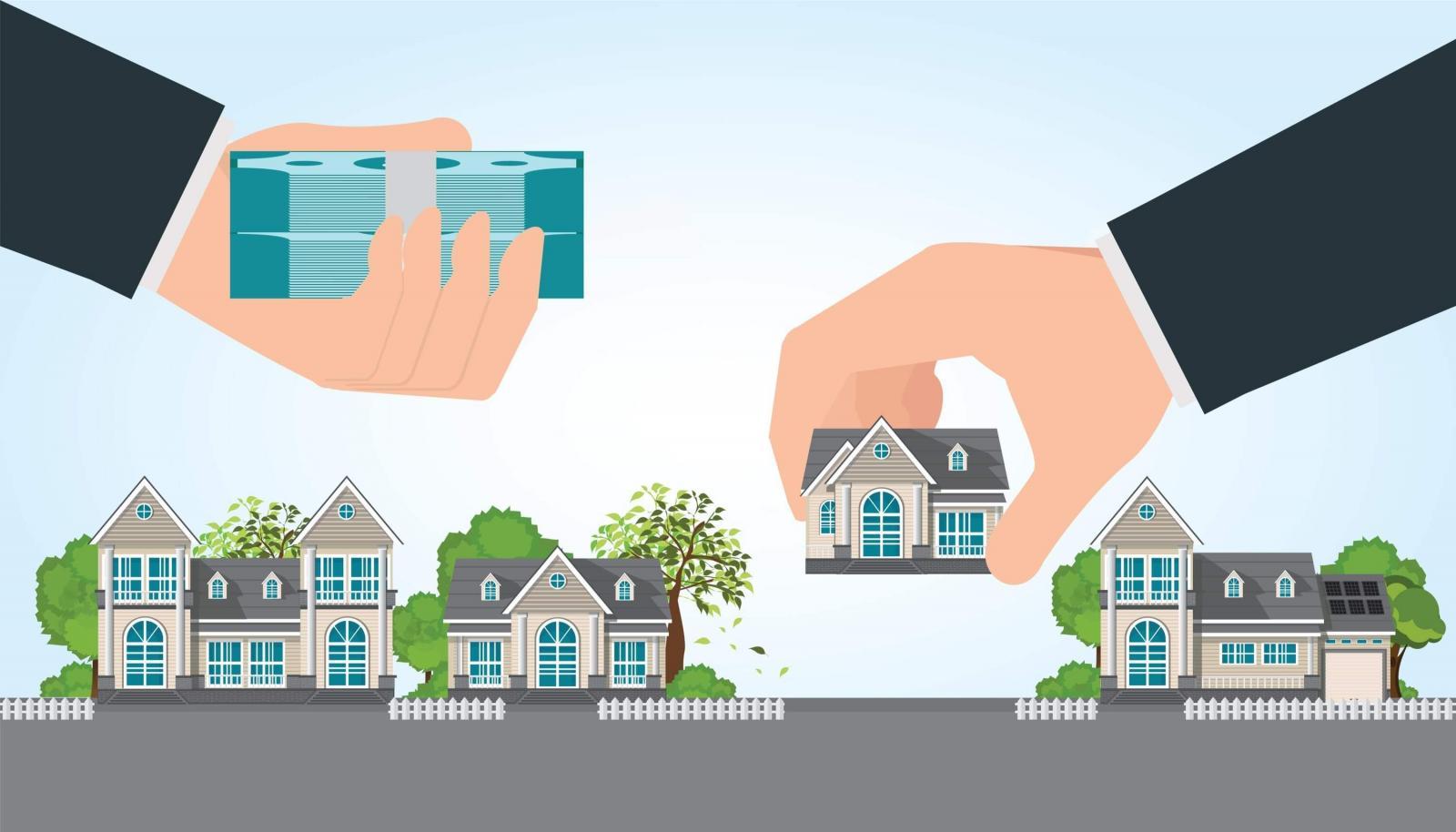 Hình ảnh minh họa giao dịch, mua bán nhà đất
