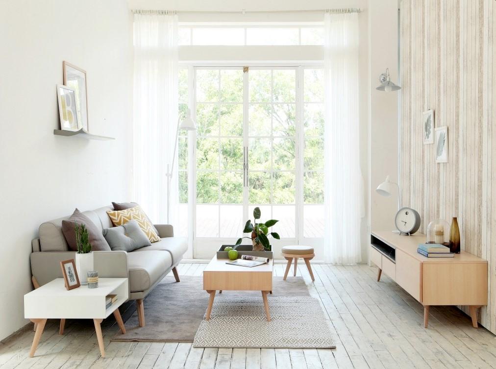 thiết kế nội thất phòng khách kiểu Hàn Quốc