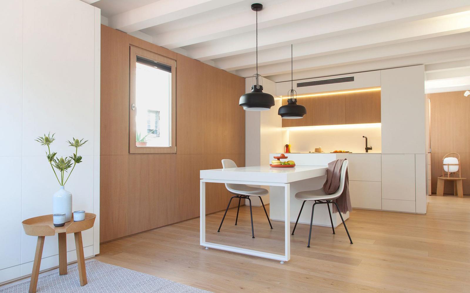 nội thất Hàn Quốc chuộng vật liệu gỗ có màu sắc tự nhiên