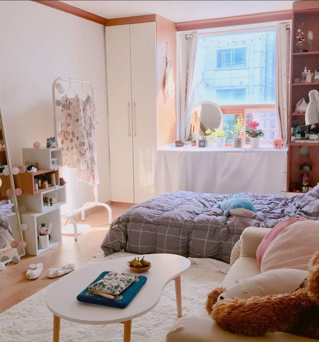 phòng ngủ nhỏ phong cách Hàn Quốc
