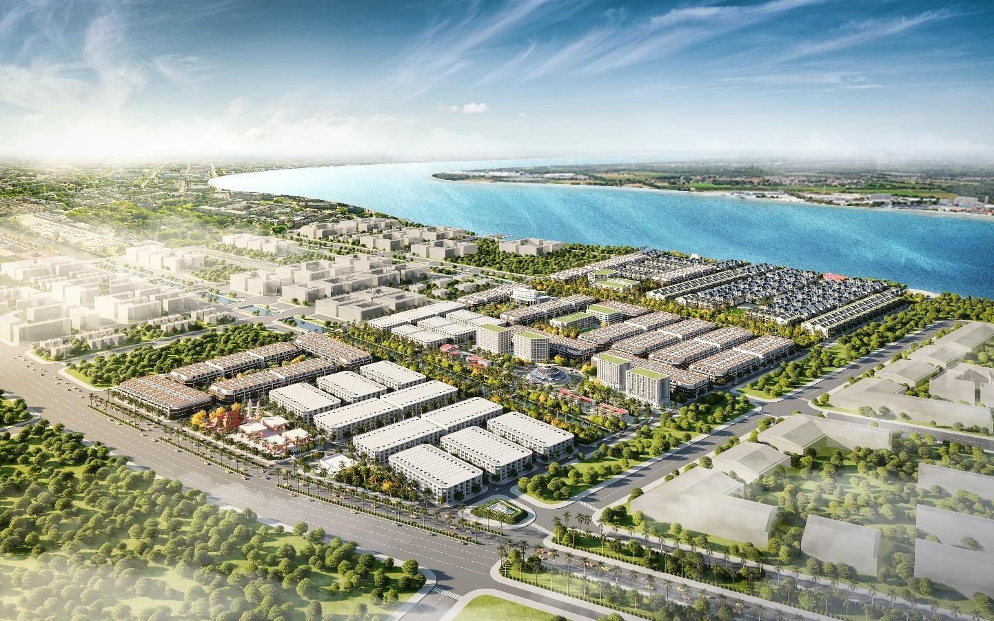 khu đô thị nhìn từ trên cao