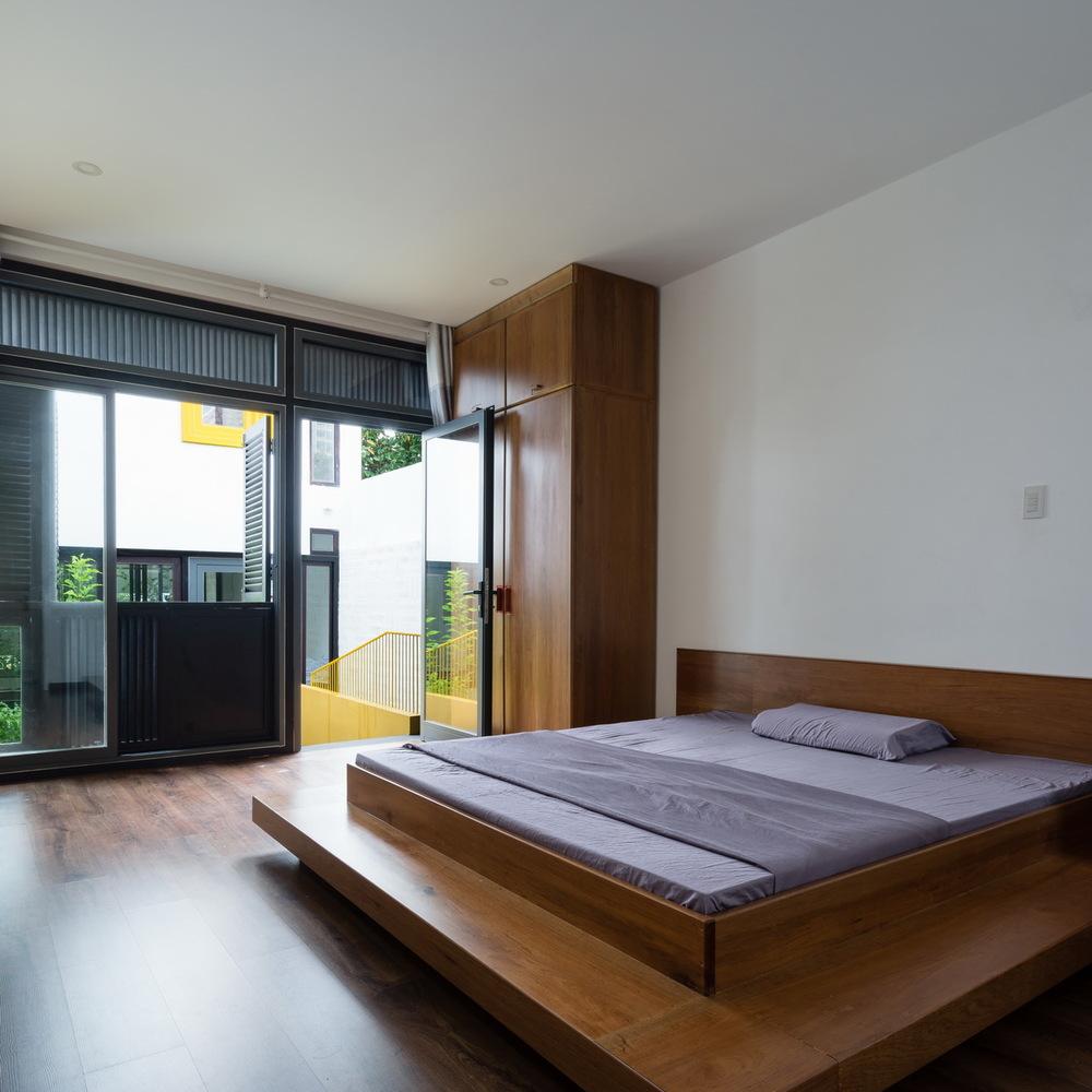 Phòng ngủ được thiết kế theo hướng tối giản nội thất.