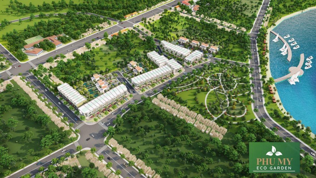 Phối cảnh tổng thể dự án Phú Mỹ Eco Garden