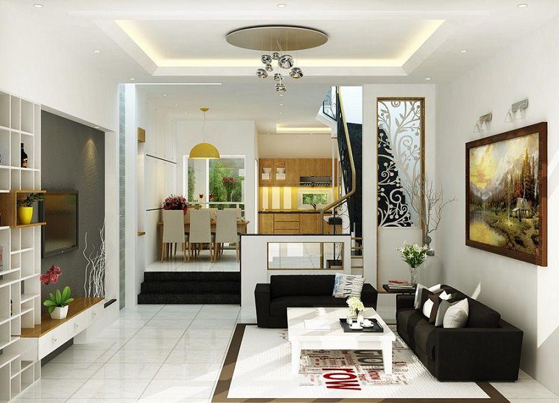 Phòng khách liền bếp giúp tiết kiệm diện tích nhà phố, căn hộ nhỏ