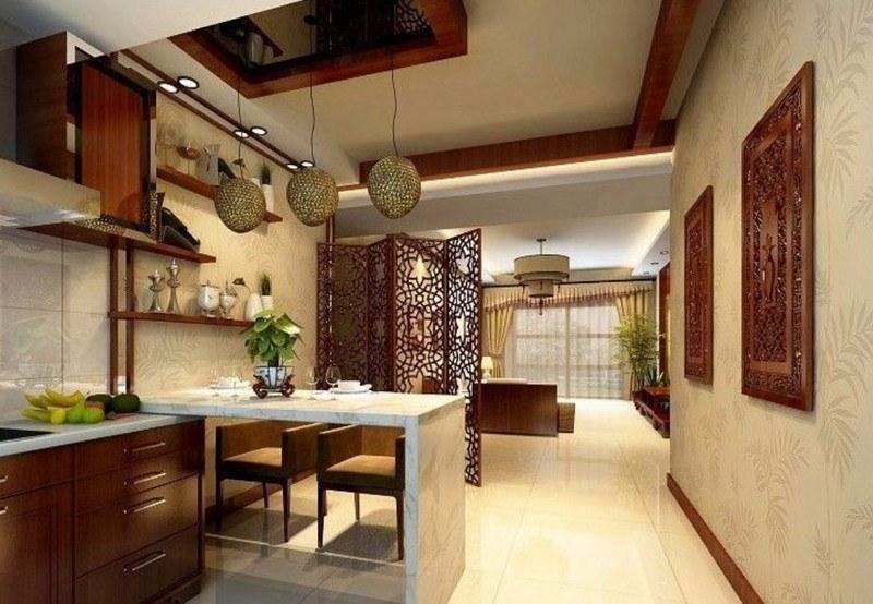Thiết kế phòng khách liền bếp cho căn hộ chung cư