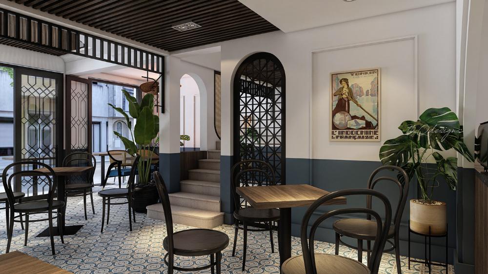 Quán cafe phong cách Indochine